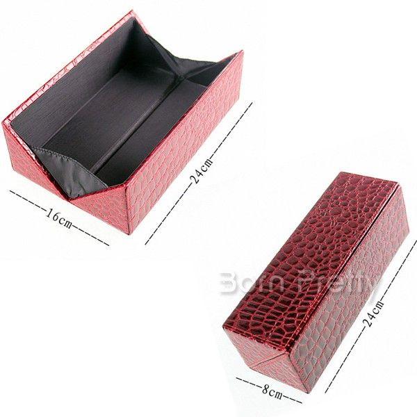 $12.99 1Pc Luxury Lizard Leather Cosmetic Brush Case ...