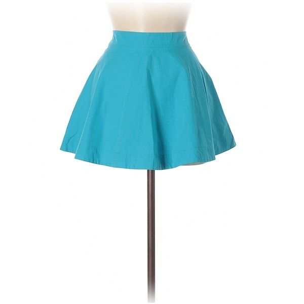 Hollister Casual Skirt ($15) ❤ liked on Polyvore featuring skirts, light blue, cotton skirts, white skirt, white cotton skirt and light blue skirt