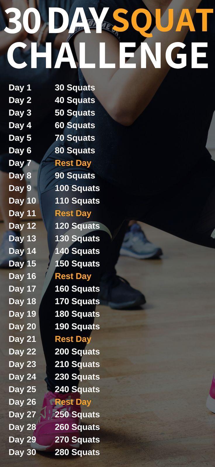 30-tägige Squat-Herausforderung, um deinen Hintern zu verwandeln