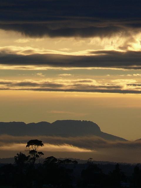 Ben Lomond, Tasmania, Australia overlooks the beautiful Tamar Valley