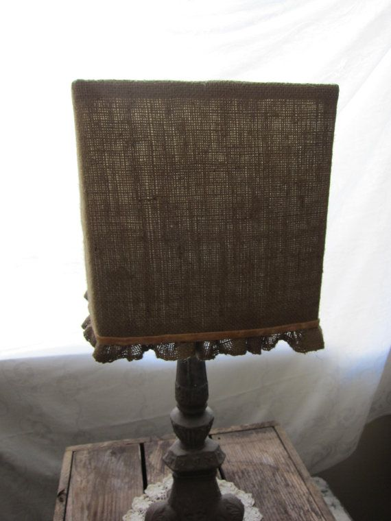love this burlap lamp shade