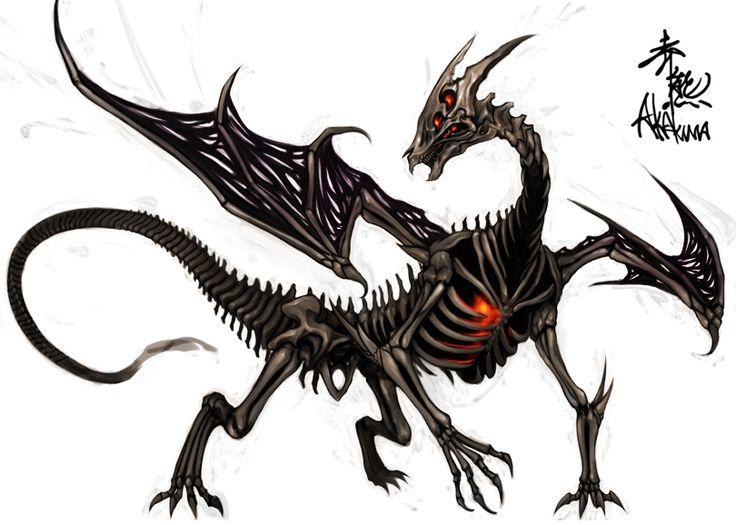 Undead Dragon Drawings zombie dragon by akakuma.deviantart.com on @ ...