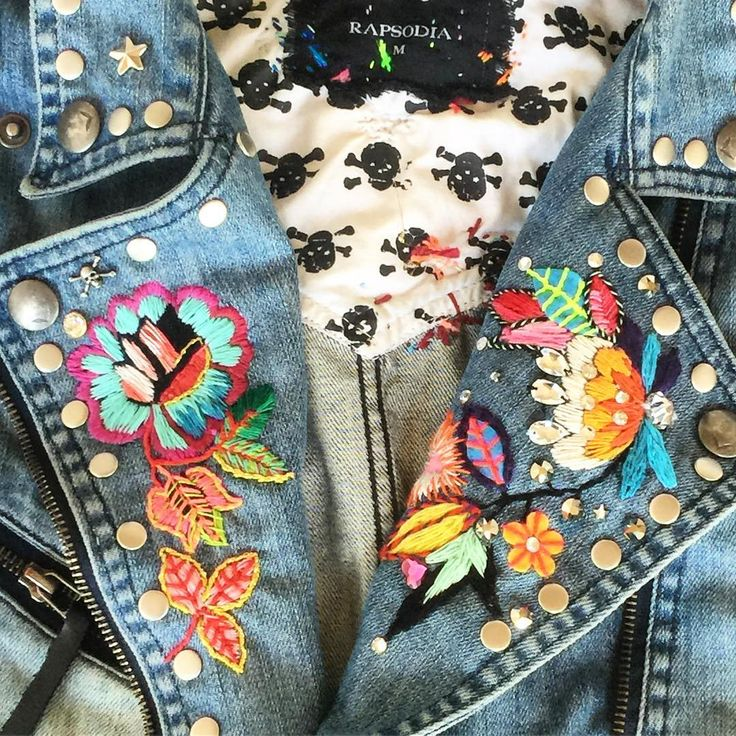 Falta poco para terminar la chaqueta #bordada #embroidery @rapsodiachileoficial @rapsodiaoficial