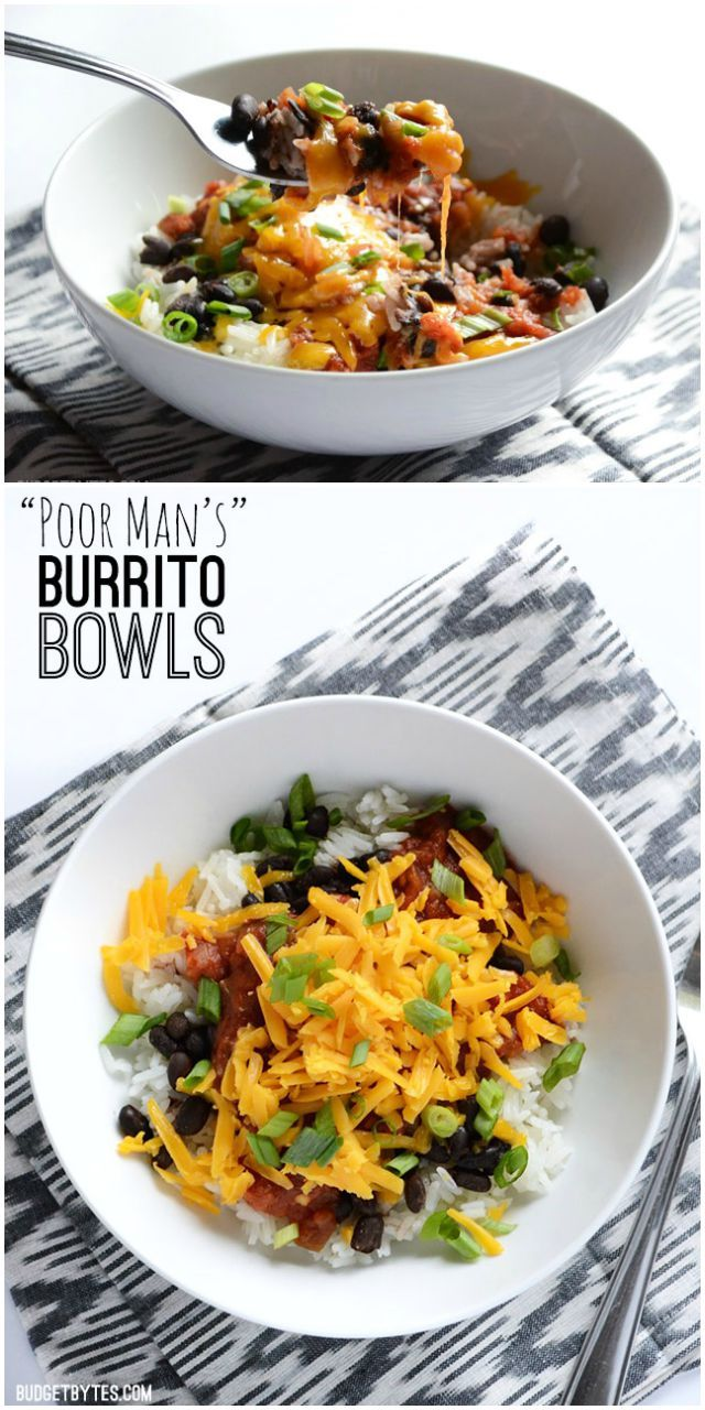 Budget Bytes - Poor Man's Burrito Bowls (could also add ground turkey)