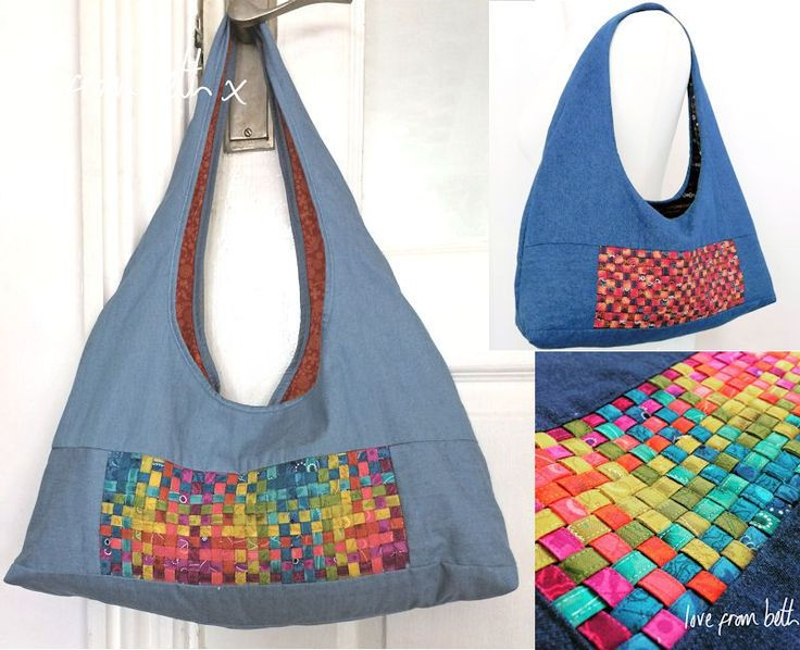 JUST IN: This fun shoulder bag is a very quick make using our pattern with lots of possibilities for different styles and colours. Sewing together the woven panel is a fun project in itself and a great new technique to learn. You will find yourself wanting to try it on other projects too.