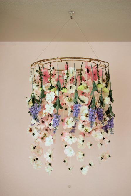 Diy Flower Chandelier More