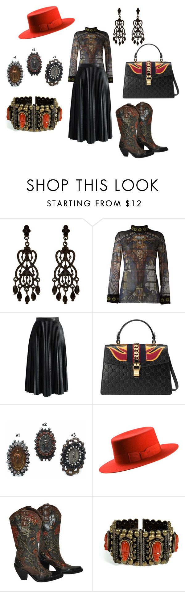 """Devil's Daughter"" by bijouxdejais ❤ liked on Polyvore featuring Accessorize, Jean-Paul Gaultier, Chicwish, Gucci, Yves Saint Laurent and DANNIJO"