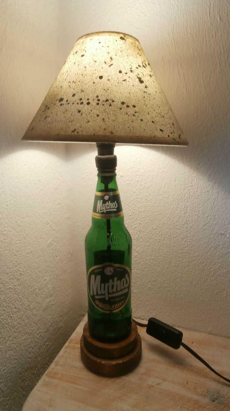 Mythos beer bottle lamp by The Craft-e-Art Company