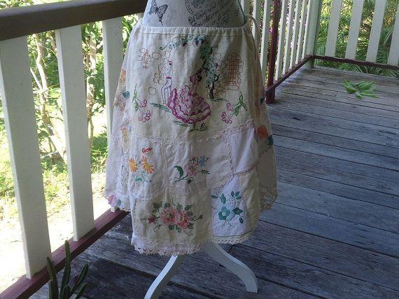 gypsy dancer skirt, romantic alternative embroidered skirt