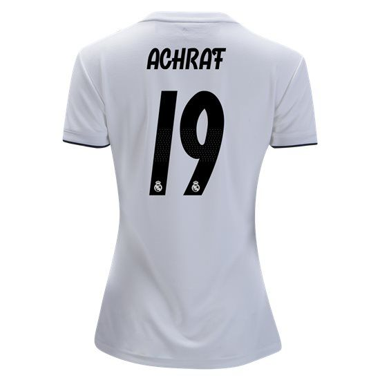 2018 2019 Achraf Hakimi Jersey Number 19 Home Women s Real Madrid Team a928e581c