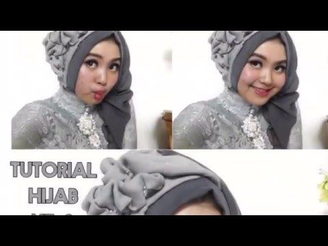 #5 Tutorial Hijab Segi Empat Paris Rawis Wisuda Pesta Kondangan Simple by @olinyolina Part 2 - YouTube