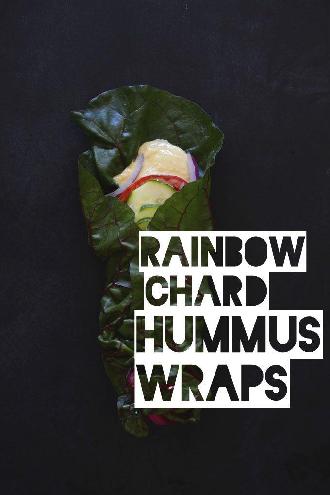 Rainbow chard, Hummus wrap and Hummus on Pinterest