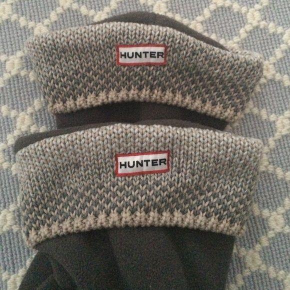 ‼️FINAL FLASH‼️Hunter Boot liners Hunter Boot liners size M/L. Worn once. Hunter Boots Shoes Winter & Rain Boots