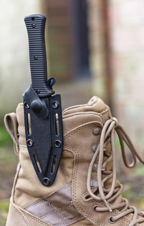 Zero Tolerance (Model 0150) fixed blade boot knife with sheath. Zombie ready!!!