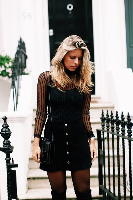 Our#wcw Natasha Oakley putting the streets of London in a panic with our Leigh Turtleneck and#NastyGalAfterPartyEssex Skirt.