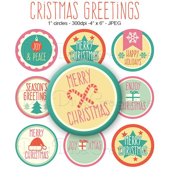 Christmas Greetings Sayings Bottle Cap Images 1 Inch by tictactogs