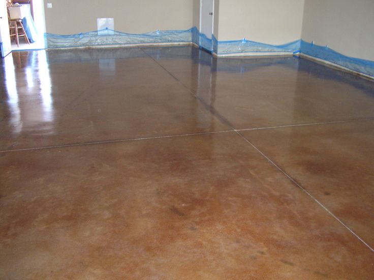 acid wash concrete patio pool deck stained floors vs stain