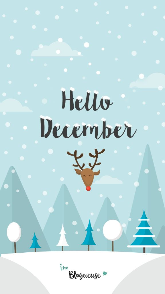 "Fond d'écran ""Hello December""                                                                                                                                                                                 Plus"