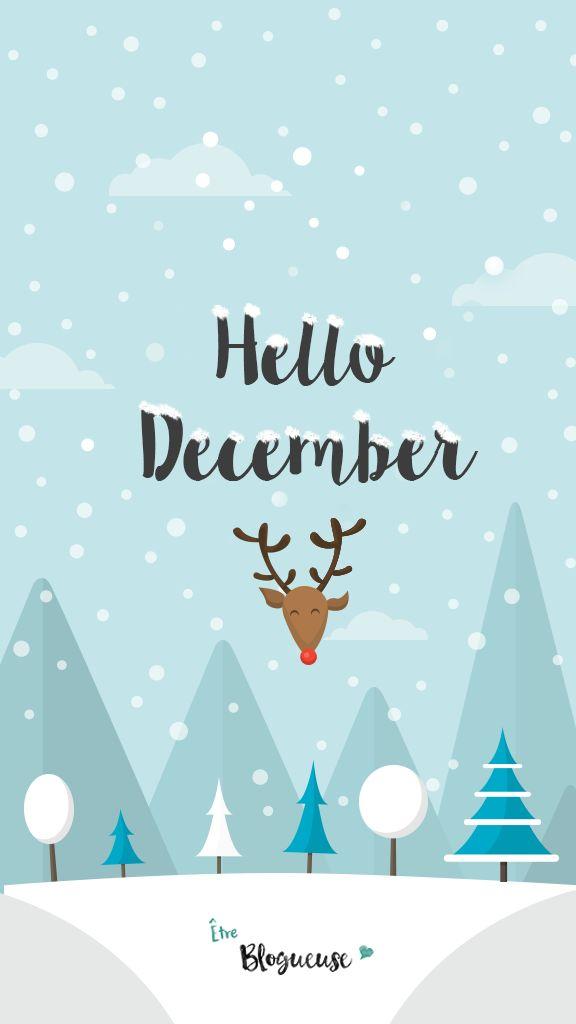 """Fond d'écran """"Hello December""""                                                                                                                                                                                 Plus"""