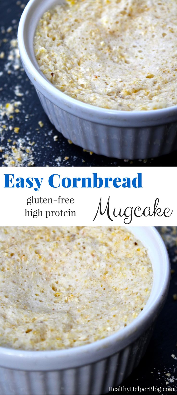Easy Cornbread Mugcake   Recipe   Protein snacks ...