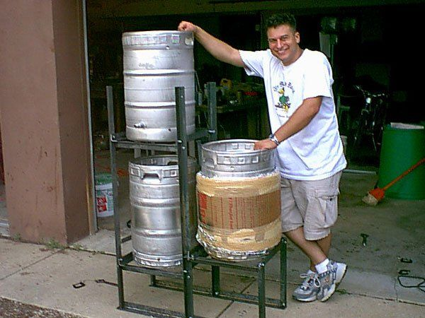 how to build a brewing stand