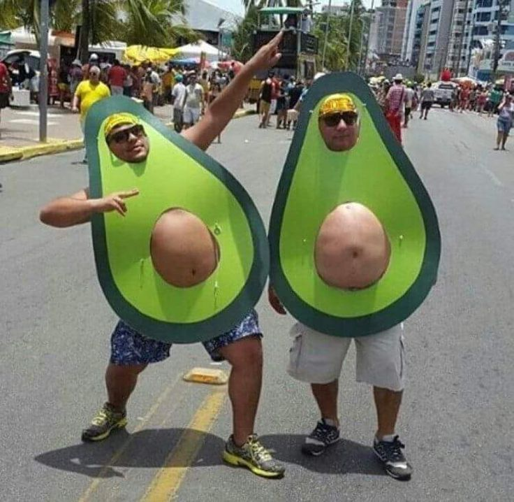 Two fat guys in avocado costumes http://ift.tt/2l9PEiK