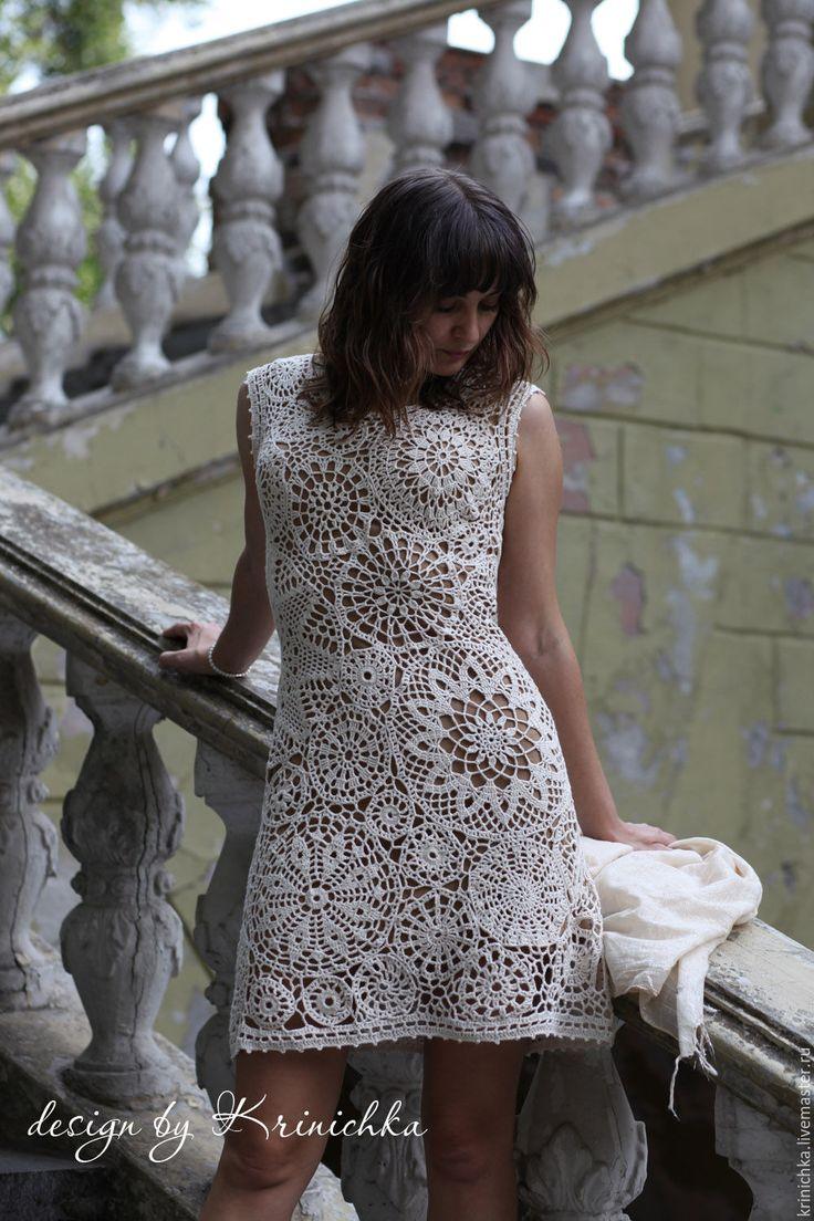 """Купить Коктейльное платье """"Римские каникулы"""" - молочный цвет, платье летнее, Платье нарядное"""