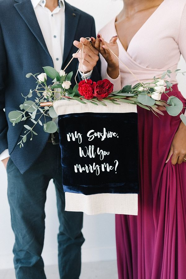 Marry Me Velvet Banner      #aislesociety #wedding #weddingideas