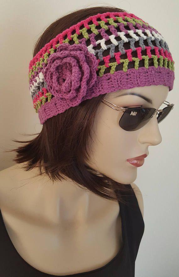 Stirnband häkeln Stirnband Baumwolle Stirnband handgemachte Haar Handpackung