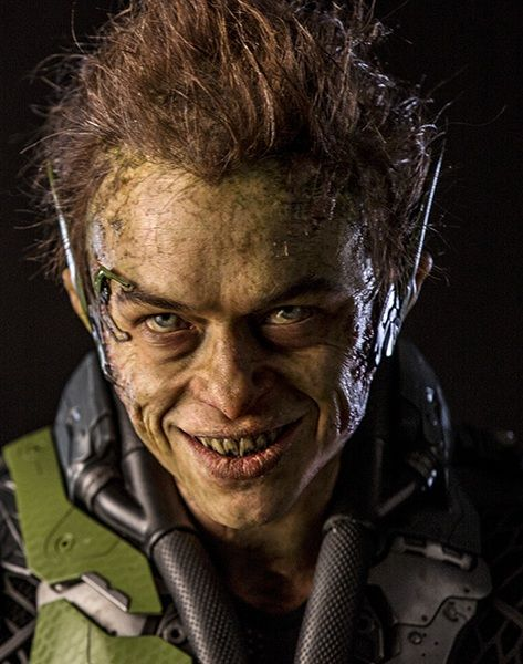 "Harry Osborn a.k.a Green Goblin played by Dane DeHaan. First appeared in the 2014 film ""The Amazing Spider-Man 2."""