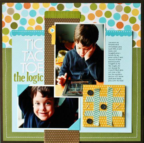 Tic Tac Toe by Nancy Damiano - Scrapbook.com