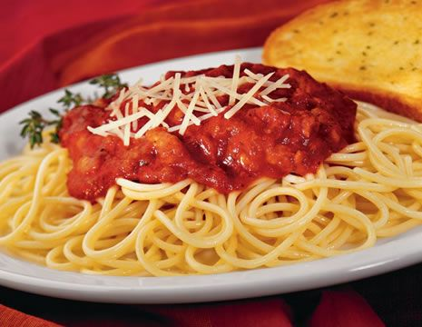 Yum! Never get tired of spagetti.