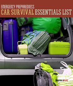 Car Emergency Preparedness Kit List. Gonna save this for the future. It'll be good once I start getting my car prepared for emergency travel.