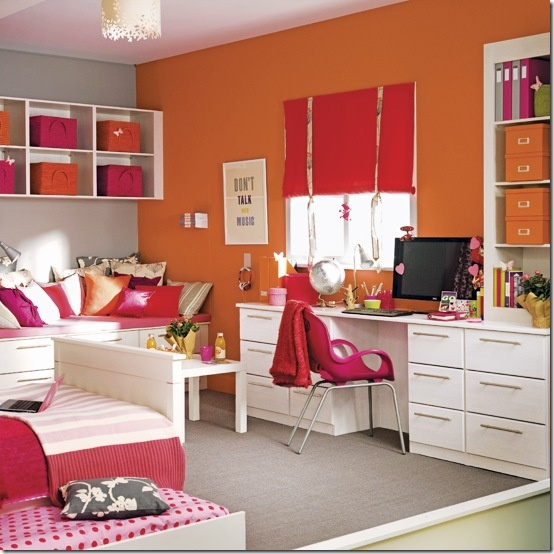 more pink and orange rooms pinterest