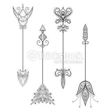 Resultado de imagem para dibujos de flechas para tatuajes
