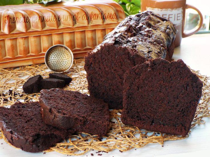Plumcake+all'acqua+con+cioccolato+e+fondi+di+caffe