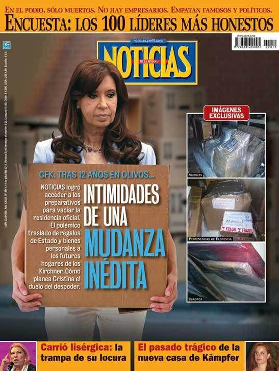 Exclusivo:El video que muestra la mudanza de Cristina en Olivos – Revista Noticias | Adribosch's Blog