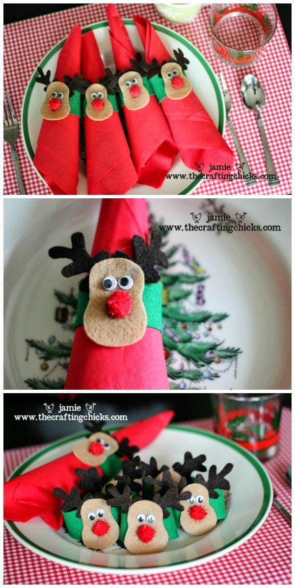 50 Ιδέες για χριστουγεννιάτικους κρίκους χειροπετσέτας!