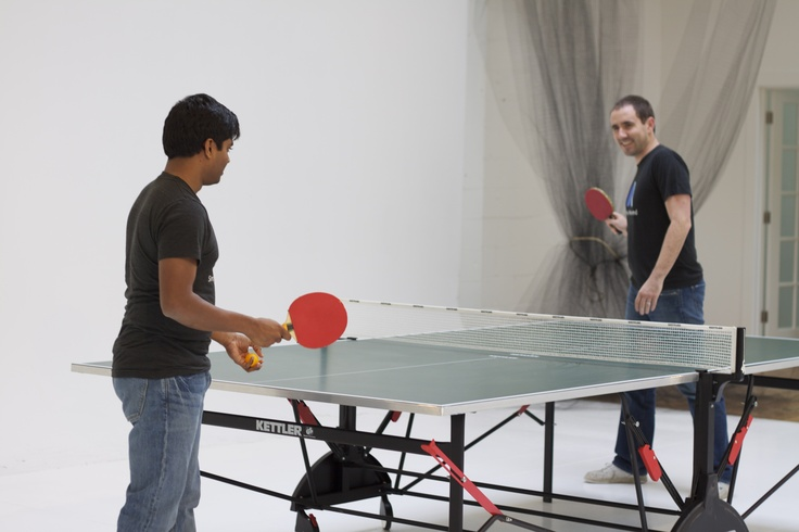 We take ping pong very seriously in this office. Who else has a ping pong ARENA?