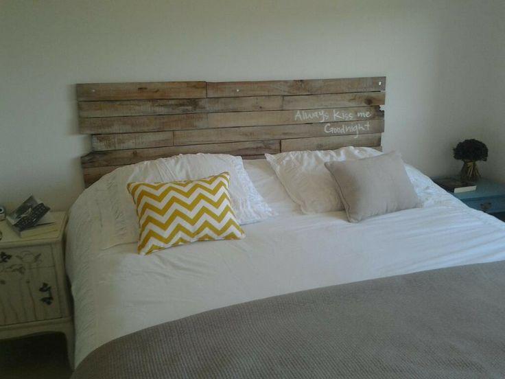 Respaldos de cama con madera reciclada respaldo cama - Cabecero madera reciclada ...