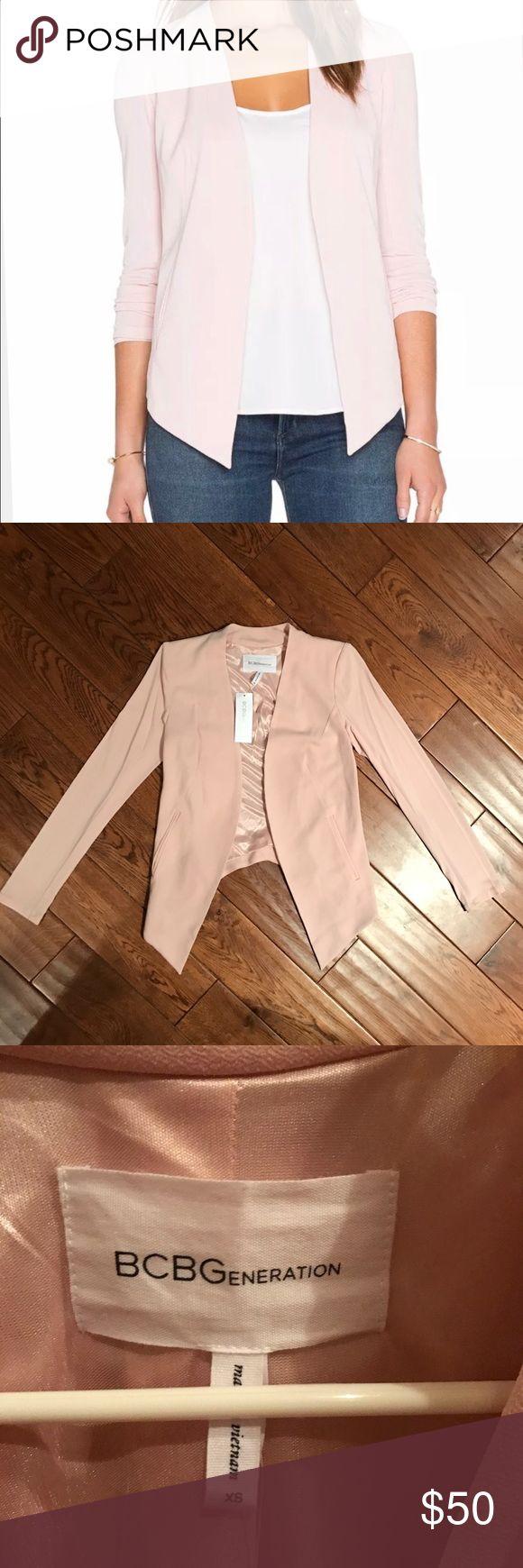BCBGeneration blazer XS brand new Beautiful pale pink blazer in xs, still has tags. Open to trades. BCBGeneration Jackets & Coats Blazers