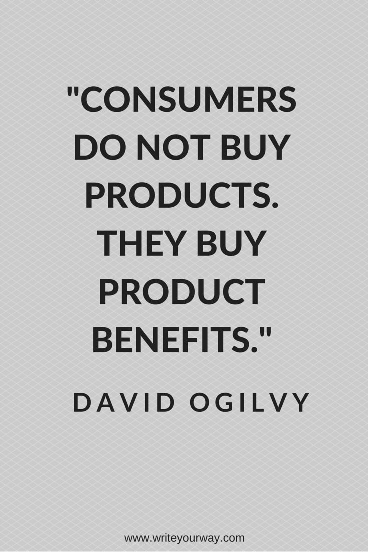 People don't buy products - they want the thing that makes their life better.