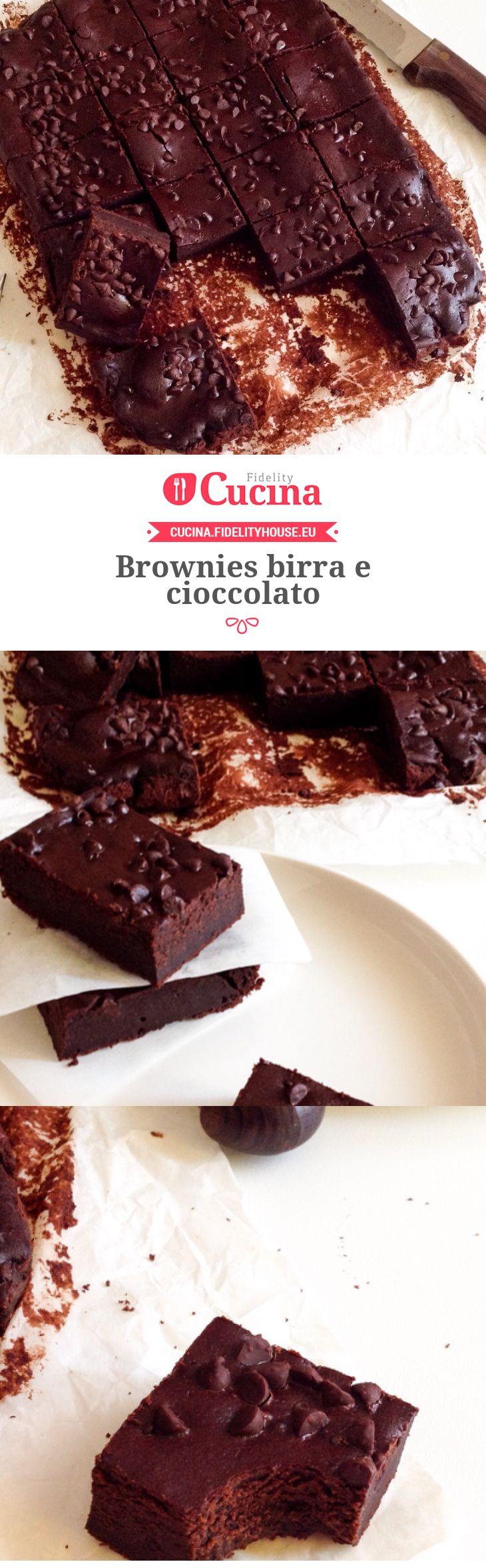 Brownies birra e cioccolato