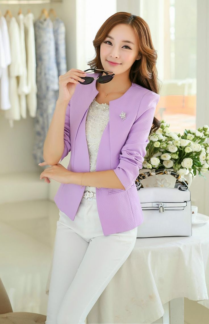 Moda coreana 50 modelos de blazers para chicas mundo - Colores de moda ...