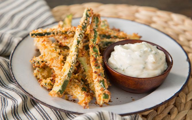 How to Make Crispy Oven Zucchini Fries on PaulaDeen.com use coconut flour instead