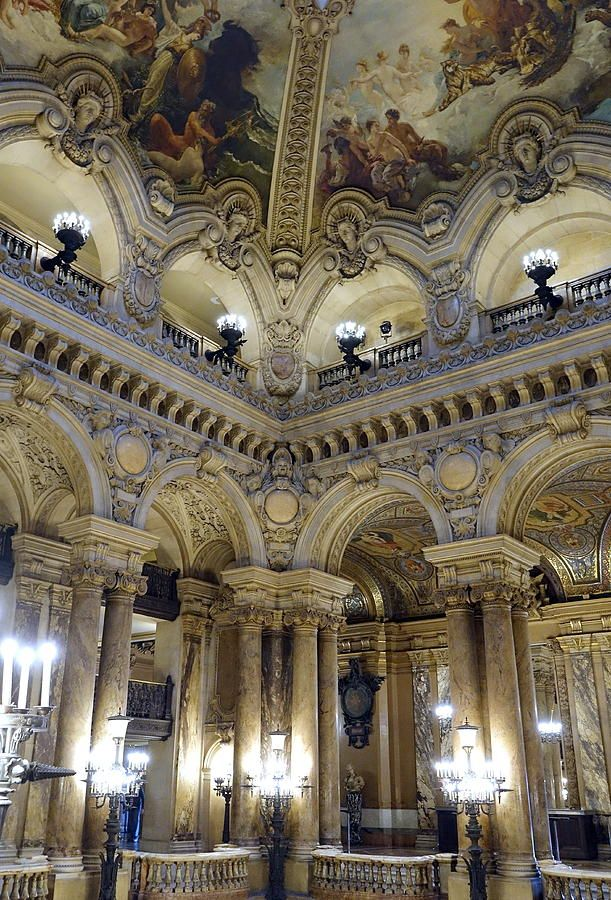 The Beauty Within The Palais Garnier In Paris France Photograph