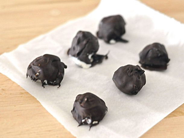 EASY CHOCOLATE COVERED ICE CREAM BON BONS Cream Bon Bons Ingredients 1 pint vanilla ice cream (or your favorite flavor) 12 ounces best quality dark chocolate, melted in the microwave or double boiler 3 tablespoons coconut oil