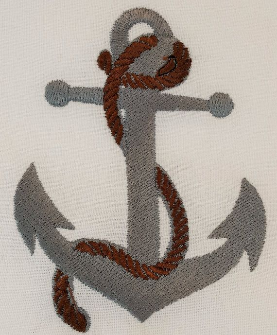Anchor and Rope Digital Embroidery Design by EmbroideryDesignsBRN