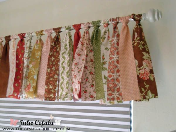 Valance Made From Jelly Rolls From The Crafty Quilter How Easy Is This And You Don