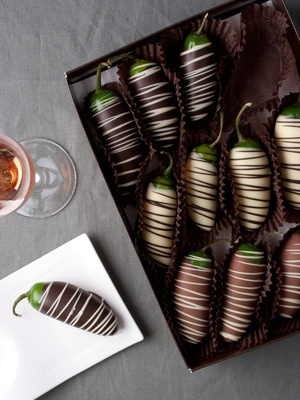 I think you either love or hate these chocolate covered chili peppers
